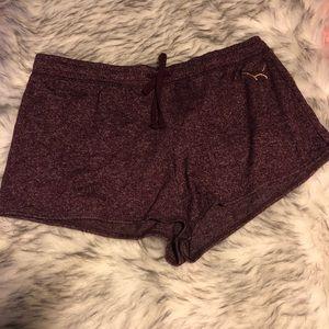 VS PINK cozy purple shorts NWT